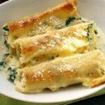 receta de canelones de espinaca