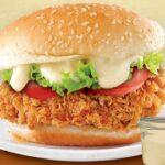 receta hamburguesa de pollo crujiente